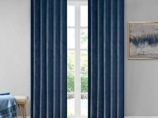 510 Design Colt 37  x 84  Room Darkening Poly Velvet Rod Pocket Back Tab Window Panel Pair