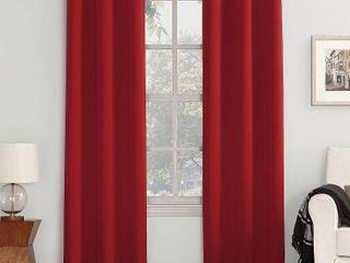 95 x54  Kenneth Energy Saving Blackout Grommet Top Curtain Panel Red   Sun Zero