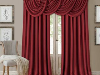 Elrene All Seasons Faux Silk 52  x 84  Blackout Curtain Panel