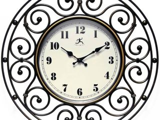 Provinciale Wrought Iron Decorative Traditional 18 inch Round Wall Clock