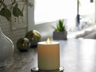 lightli Touch On Off Moving Flame 3  x 6  Pillar lED Candle