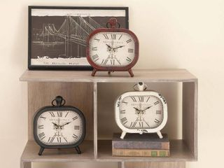Shanghai Antique Styled Metal Table Clock 3 Assorted