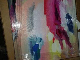 13 x 16 Oliver Gal Raibow Abstract Wall Art Canvas Print