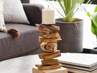 Carbon loft Thurman Rustic Wooden Candle Holder