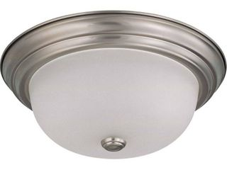 Nuvo Interior Home  light Brushed Nickel Flush Mount Fixture