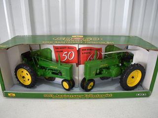 Ertl 50th Anniversary Collector Set, John Deere 50 and 60 Tractors, 1/16, with box