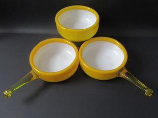 Holmegaard Denmark Glass Herring Bowl Set