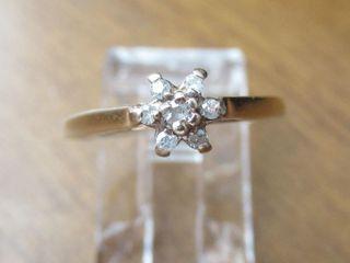 10K Gold Dainty Diamond Ring