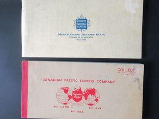 CN   CP Express Receipt Books c  1960s