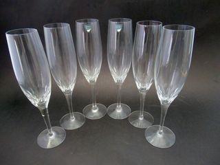 6 Orrefors Sweden IJPreludeIJ Champagne Flutes