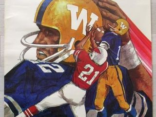 1971 CFl Winnipeg Blue Bombers Football Poster