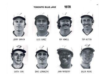 1978 Toronto Blue Jays Publicity Headshot Sheets
