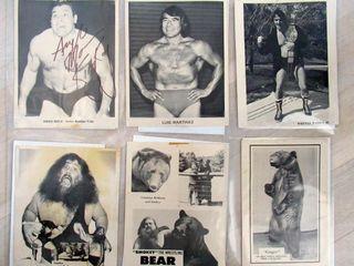 lot of 6 B W Vintage Canadian Wrestling Publicity