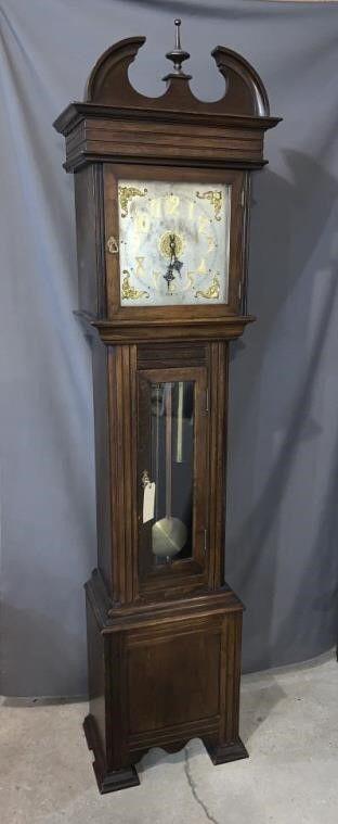 Waterbury Grandfather Hall Clock  1905