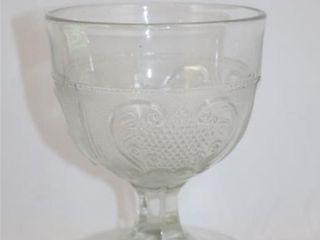 Palmette Pressed Glass Spooner