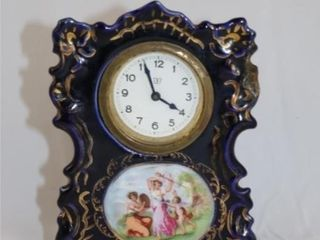 Blue   Gold Mantel Clock