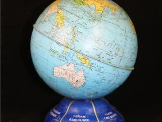 Desk Top World Globe Coin Bank