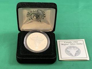 1982 Regina Silver Dollar