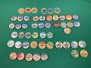 50 Jello Shiriff Airplane Coins
