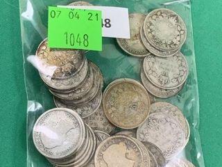 50 Canadian Silver Dimes Pre 1936