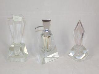 3 Crystal Perfume Bottles