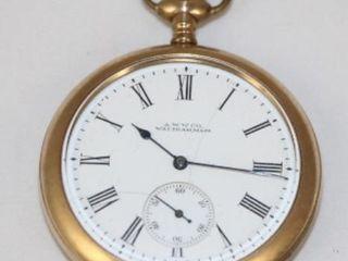 A W W  Co  Waltham Pocket Watch
