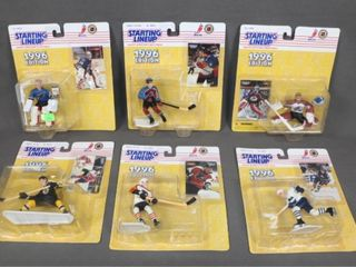 6 Kenner Starting Hockey lineups