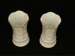 Pair of Belleek Vases