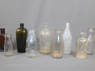 9 Old Milk and Drug Bottles