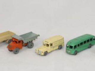 8 Vintage lesney Die Cast Vehicles