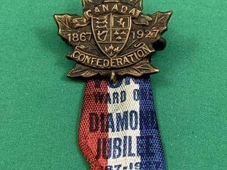 Diamond Jubilee Canada Confederation Pin   Ribbon