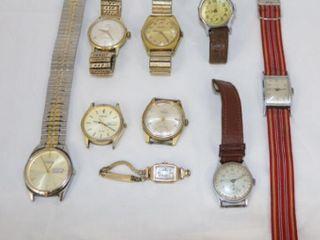 9 Wrist Watches AS Found