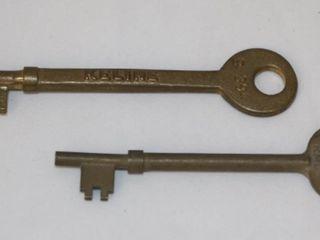 Pair of Railway Caboose Keys
