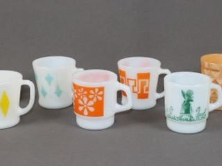 10 Fire King Mugs