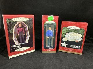 3 Hallmark Star Trek Ornaments