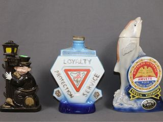 3 Commemorative liquor Bottles