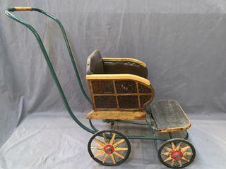 Childs Wooden Wheel Stroller