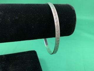 Sterling Silver Greek Key Bangle
