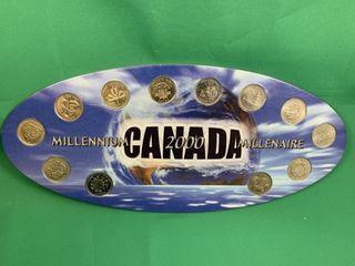 Millenium 2000 25 Cent Piece Coin Set