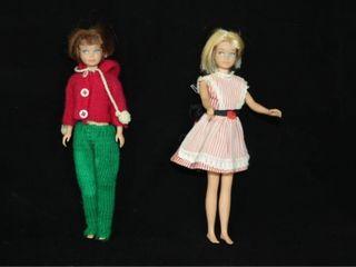 2 1963 Skipper Dolls