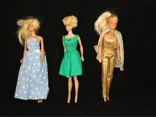 lot   3 Barbie Dolls