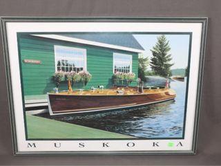 Muskoka Boat Print