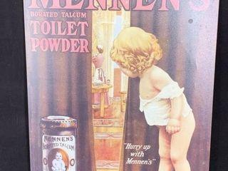 Mennen s Toilet Powder Sign