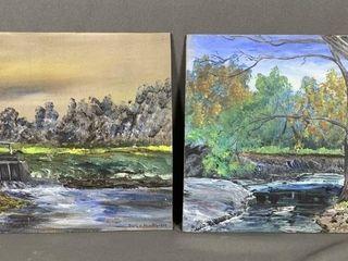 2 Acrylic Paintings