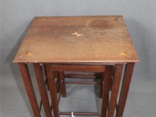 Vintage Set of 3 Teak Nesting Tables