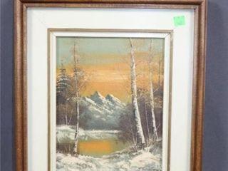 Mountain Scene Oil Painting