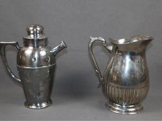 2 Silver Plate Water Jugs