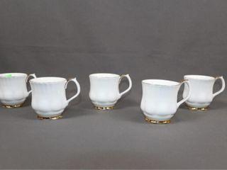 5 Royal Albert Val Dor Mugs