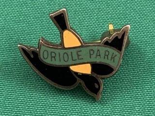 Vintage Baltimore Oriole Enamel Pin