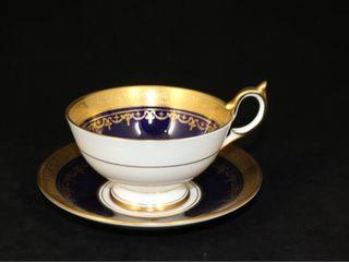 Ainsley Cup and Saucer  Georgia Cobalt